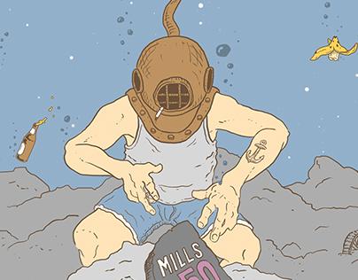 Mills 50 Dumpster Mural