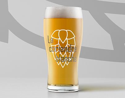 LA CORIANDRE BLANCHE • Beer label design