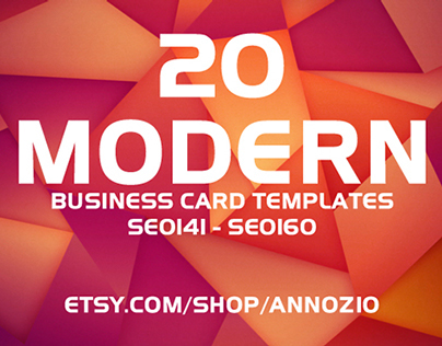 20 Modern Business Card Template SE0141- SE0160