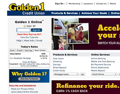 Golden1.com Redesign