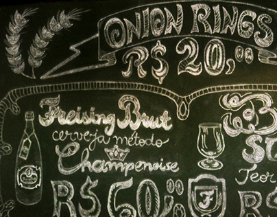 Freising Bier chalkboard