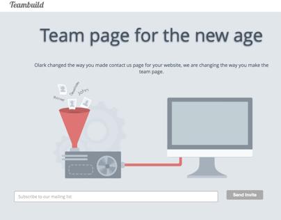 Teambuild Website Design