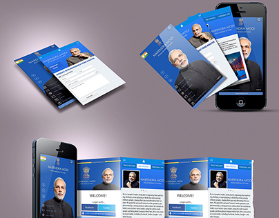 App Prototype For PM Narendra Modi's Website