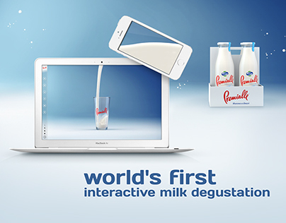 Premialle: world's first interactive milk degustation