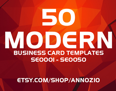 50 Modern Corporate Business Cards SE0001 - SE0050