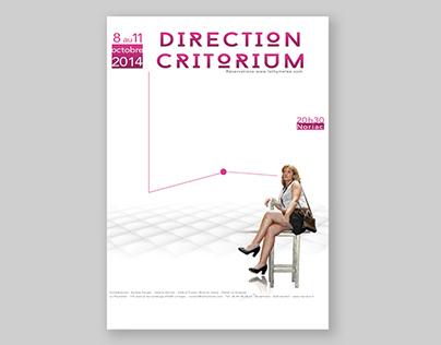 "Playbill, poster of ""Direction Critorium"""