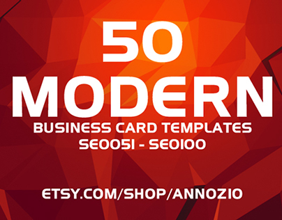 50 Modern Corporate Business Cards SE0051 - SE0100