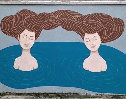 Mural in Dražice near Rijeka Croatia, 2013.
