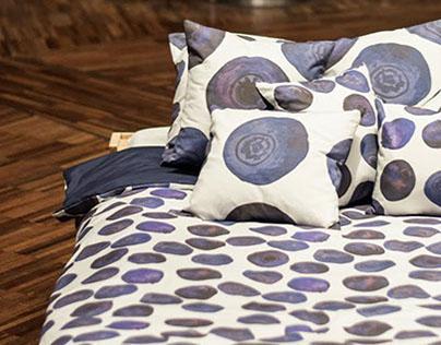 blueberries - textile project