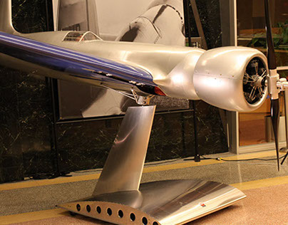 Custom Aluminum Display Stand for Hughes H-1 Racer