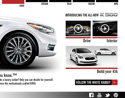 KIA K900 Interactive Interface