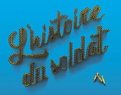 """L'histoire du soldat""  billboard and flyer"