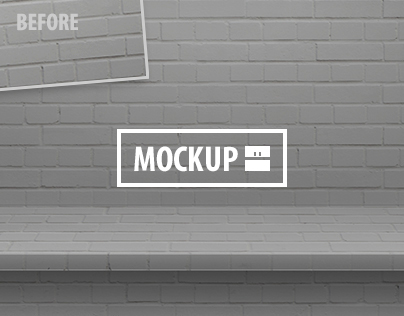 12 One-Piece Shelf Mockups Set (Photoshop)
