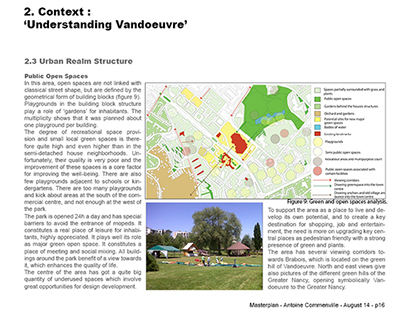 Masterplan Vandoeuvre - Site & public realm analysis