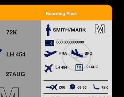 Lufthansa's New Boarding Pass Design