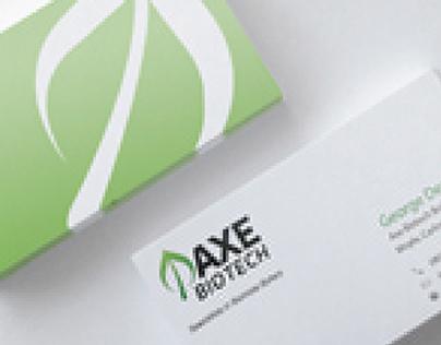 Axe Biotech Business Card Design | Branding Application
