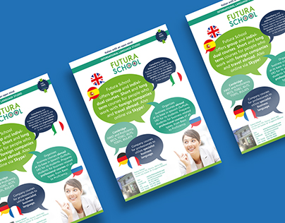Flyer for Futura School International Language Studio