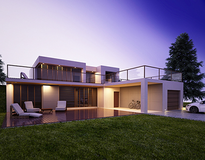 HOUSE WITH TWO TERRACES