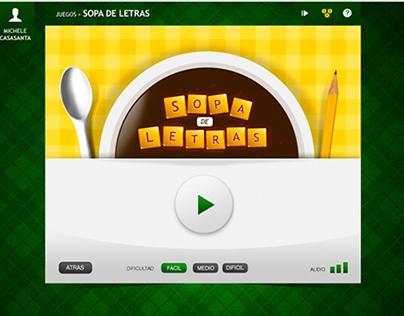 Sopa de Letras (UI Game Design for Educative Web)
