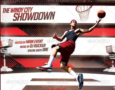 Streetball / Basketball / Slam Dunk Flyer Template