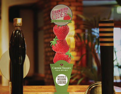 Crown Valley: Strawberry Cider Tap Handle