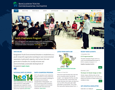 Bangladesh Youth Environmental Initiative's Website