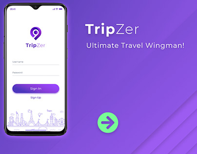 Travel App UI Design - TripZer