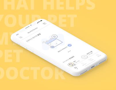 MY PET DOCTOR APP SERVICE UI / UX DESIGN
