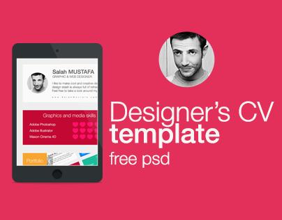 CV Flat Template 2014 - Free PSD