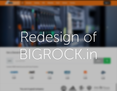 Redesign of Bigrock.in