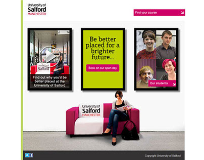 Betterplaced campaign landing page for open days
