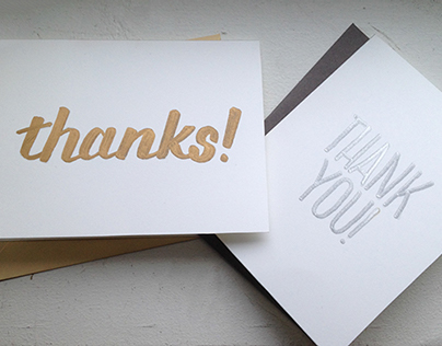 Hand Lettered Thank You Notes