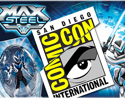 MAX STEEL: COMIC-CON package 2014 Mattel toys