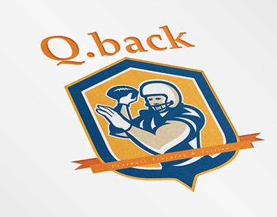 Q Back American Football Training Logo