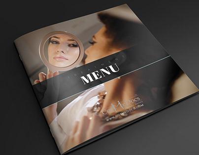 Brochure Design - Cosmetic Treatments Menu - CosmeDocs