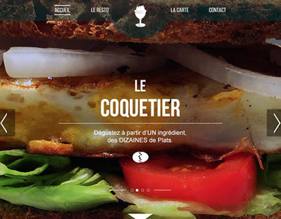 Le Coquetier - WebDesign