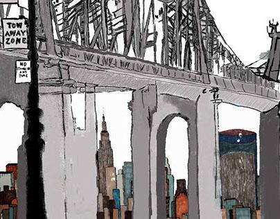 Ilustraciones para nueva serie Alone At NYC