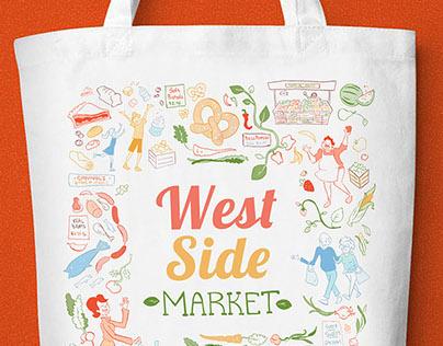 Farmer's Market Tote Bag Design/Illustration