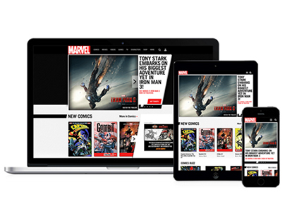 Marvel.com Redesign