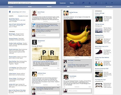 Creating a User Friendly Facebook Home Page