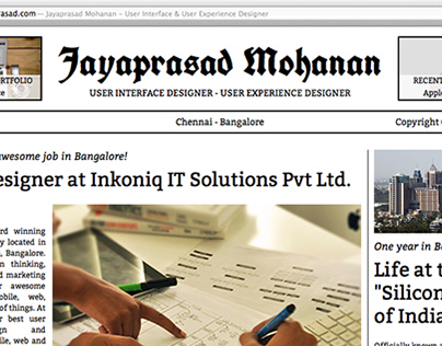 Personal Website Redesign - Old Newspaper Theme