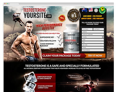 Testosterone Website Design - FOR SALE