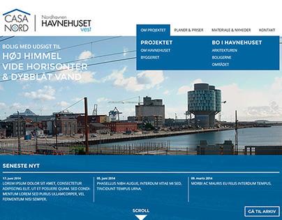 Casa Nord - Havnehuset Vest: Web Design