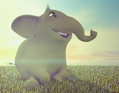 Happy Green Elephant