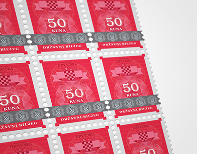 Design securities - revenue stamp croatia