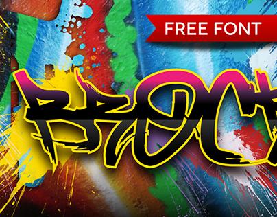 Brock165 - Free Font