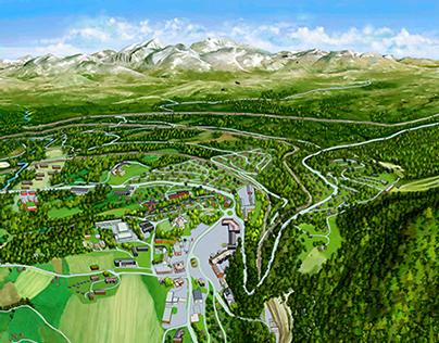 3D-map of Dombås