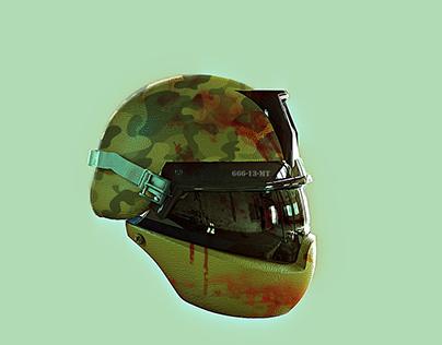 Army Helmet death MX