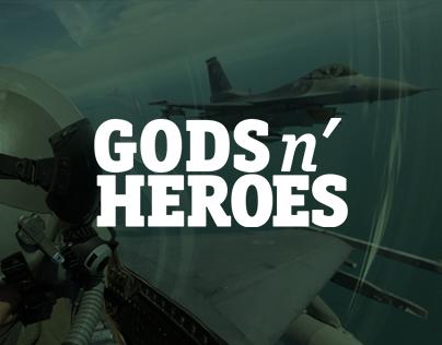 Gods'n'Heroes - Landing page design