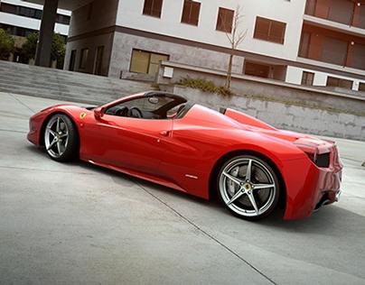 CGI Art 9 By Tim Feher Ferrari 458